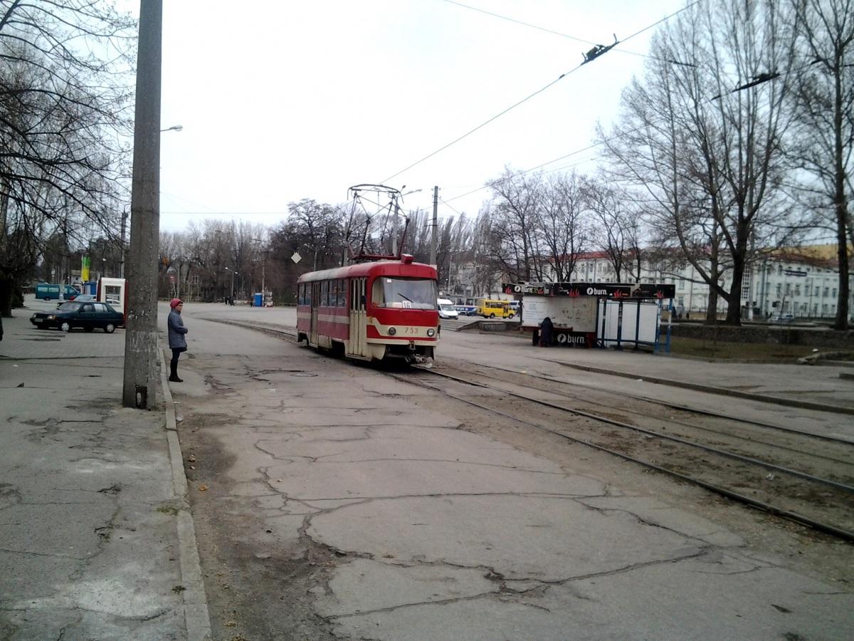 Запорожье. Tatra T3SU №753
