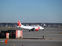 Москва. Самолет Airbus A319 (OK-OER) авиакомпании Czech Airlines