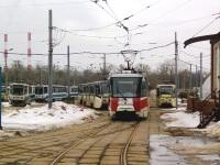 Москва. 71-608КМ (КТМ-8М) №4208, 71-153 (ЛМ-2008) №4915, 71-619А (КТМ-19А) №4134