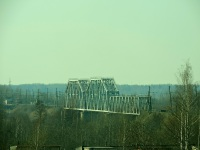Кириши. Железнодорожный мост через реку Волхов, перегон Кириши - Волхов-пристань
