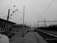 Кириши. Вид на новую платформу станции Кириши