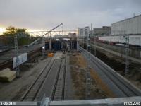Москва. Строительство платформы Открытое шоссе