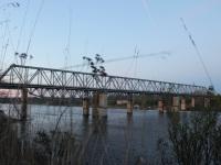 Волхов. Железнодорожный мост через реку Волхов