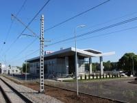 Кириши. Новый вокзал, вид с платформы