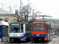 Таганрог. 71-407 №387, 71-608К (КТМ-8) №382