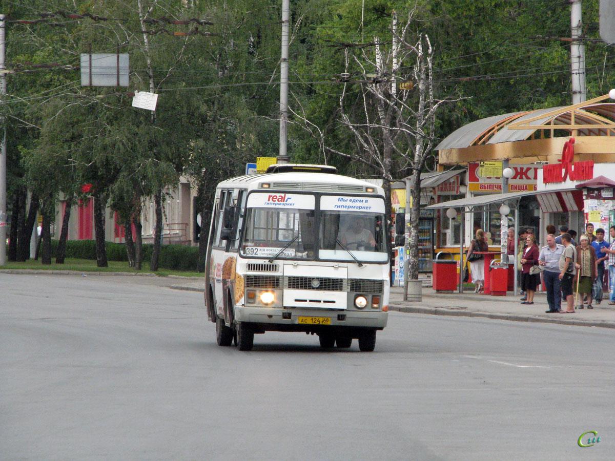 Липецк. ПАЗ-32054 ас124