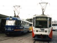 Москва. 71-608КМ (КТМ-8М) №1221, Tatra T3SU №1539, Tatra T3SU №1507