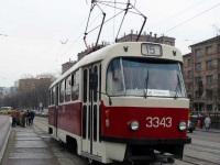 Москва. Tatra T3 (МТТМ) №3343
