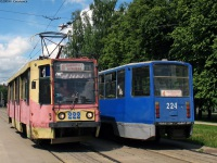 Смоленск. 71-608КМ (КТМ-8М) №224, 71-608К (КТМ-8) №222