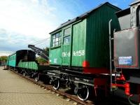Брест. Паровой кран на железнодорожном ходу ПК6-1158 с двухосной платформой