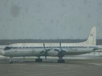 Комсомольск-на-Амуре. Самолет Ил-18Д (74296)