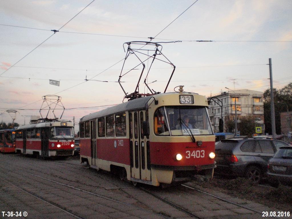 Москва. Tatra T3 (МТТЧ) №3403, Tatra T3 (МТТА-2) №2320
