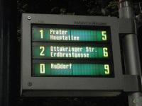 Вена. Электронный маршрутный указатель с временем прибытия маршрутов