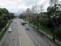 Хабаровск. Вид с путепровода на участок трамвайной линии маршрута № 6