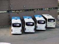 Хельсинки. Volvo 8900 LLR-581, Irisbus Crossway LE 12.8M CHL-510, Volvo 8900 LLR-575, Volvo 8900 LLR-586