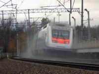 Санкт-Петербург. Скоростной пассажирский двухсистемный электропоезд Sm6 Allegro, маршрут Санкт-Петербург-Хельсинки