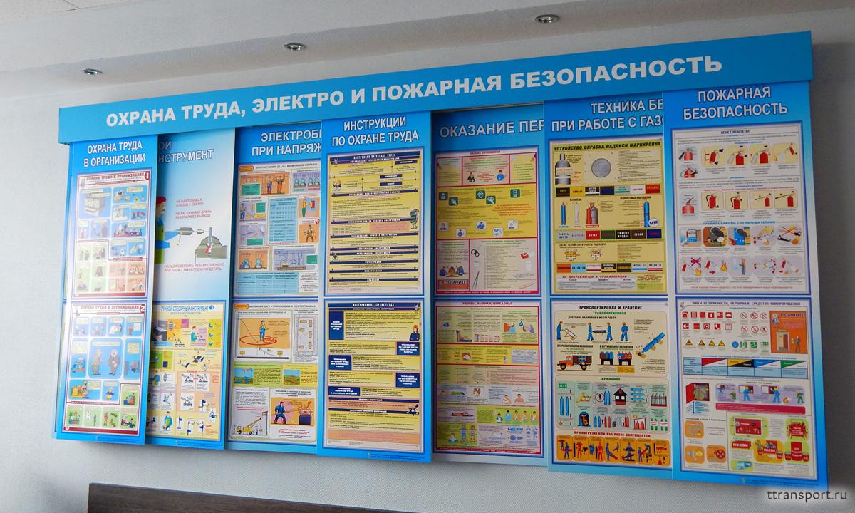 Фото или плакаты по охране труда