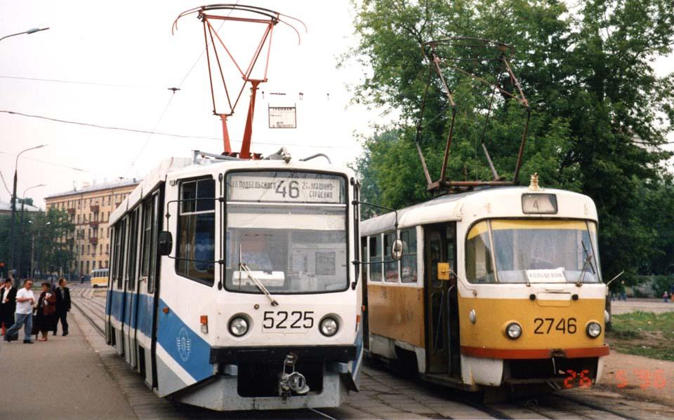 Москва. 71-608КМ (КТМ-8М) №5225, Tatra T3SU №2746