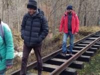Апшеронск. Висящий путь на недействующем перегоне Гуамка - Мезмай
