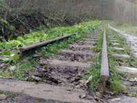 Апшеронск. Обрыв железнодорожного полотна на недействующем перегоне Гуамка - Мезмай