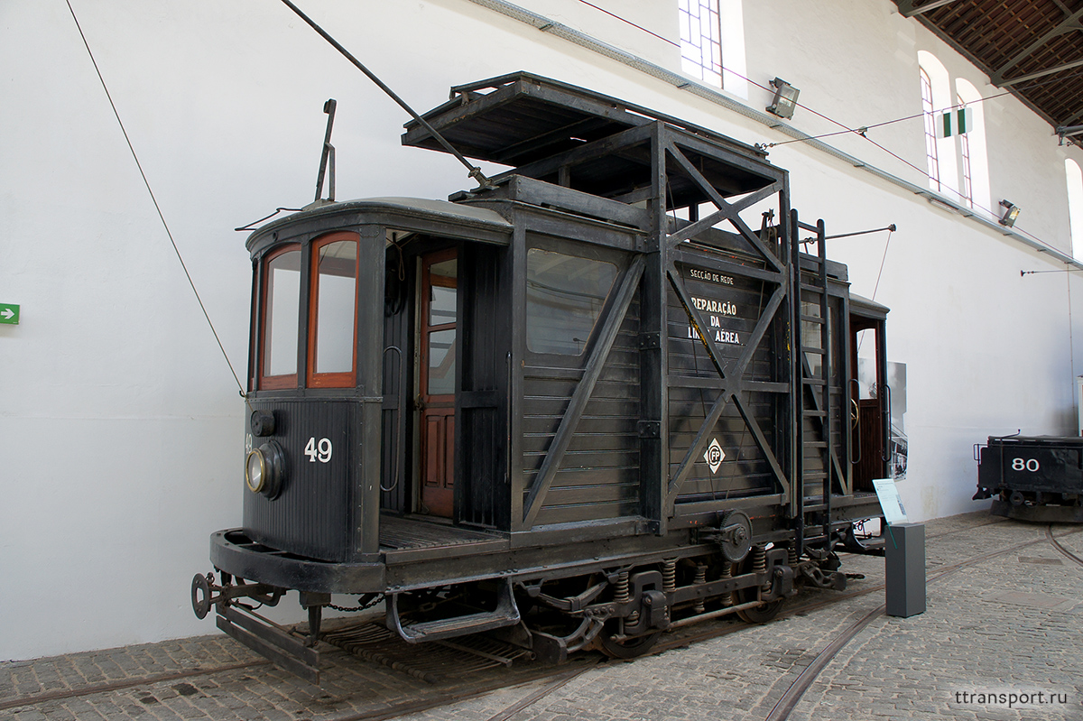 Порту. Двухосный моторный вагон №49