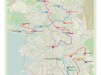 Санкт-Петербург. Ночные маршруты автобусов Санкт-Петербурга