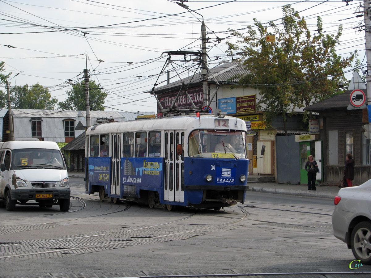Тула. Tatra T3SU №34, ГАЗель (все модификации) ав824