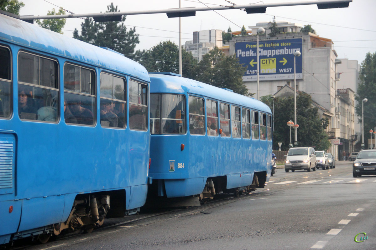 Загреб. Tatra B4YU №884