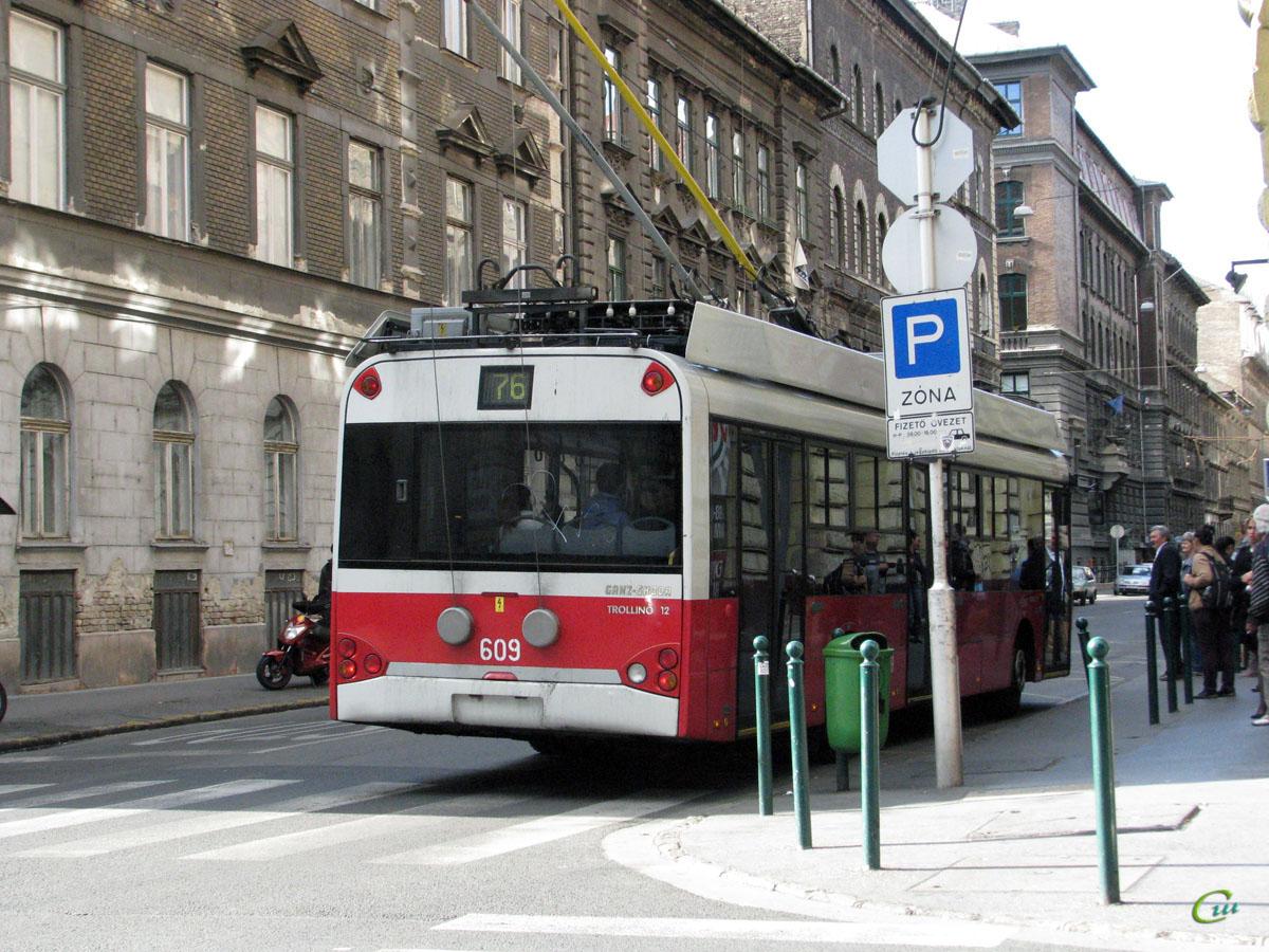 Будапешт. Solaris Trollino 12B №609