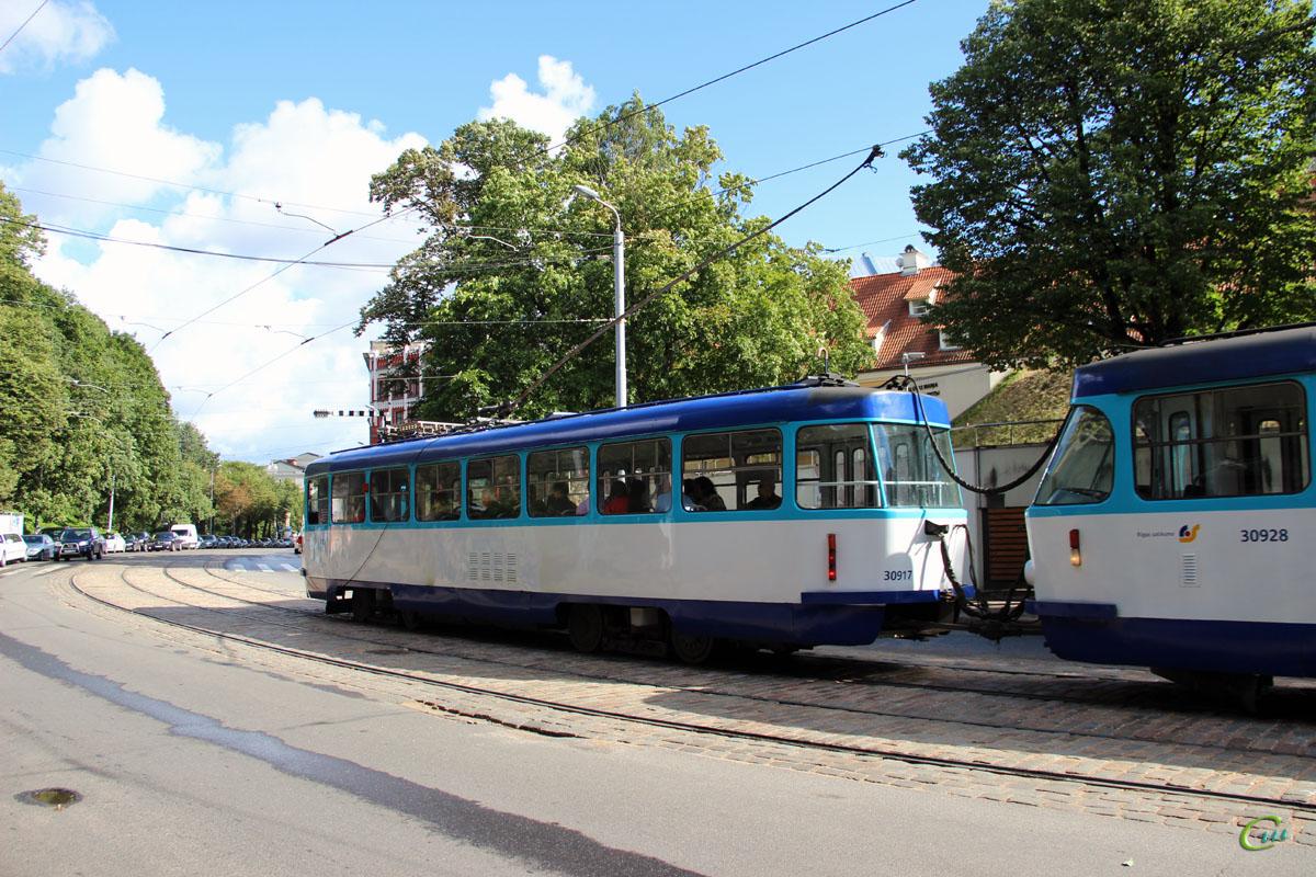 Рига. Tatra T3A №30917