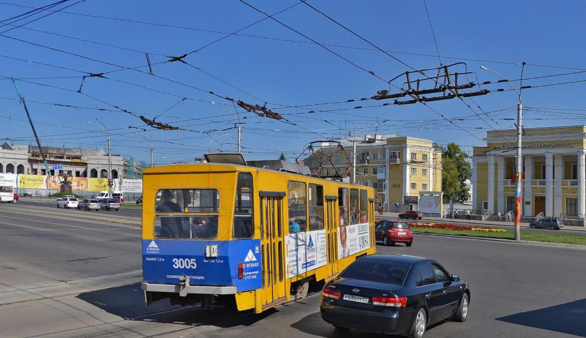 Барнаул. Tatra T6B5 (Tatra T3M) №3005