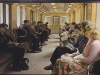 Москва. В салоне метропоезда