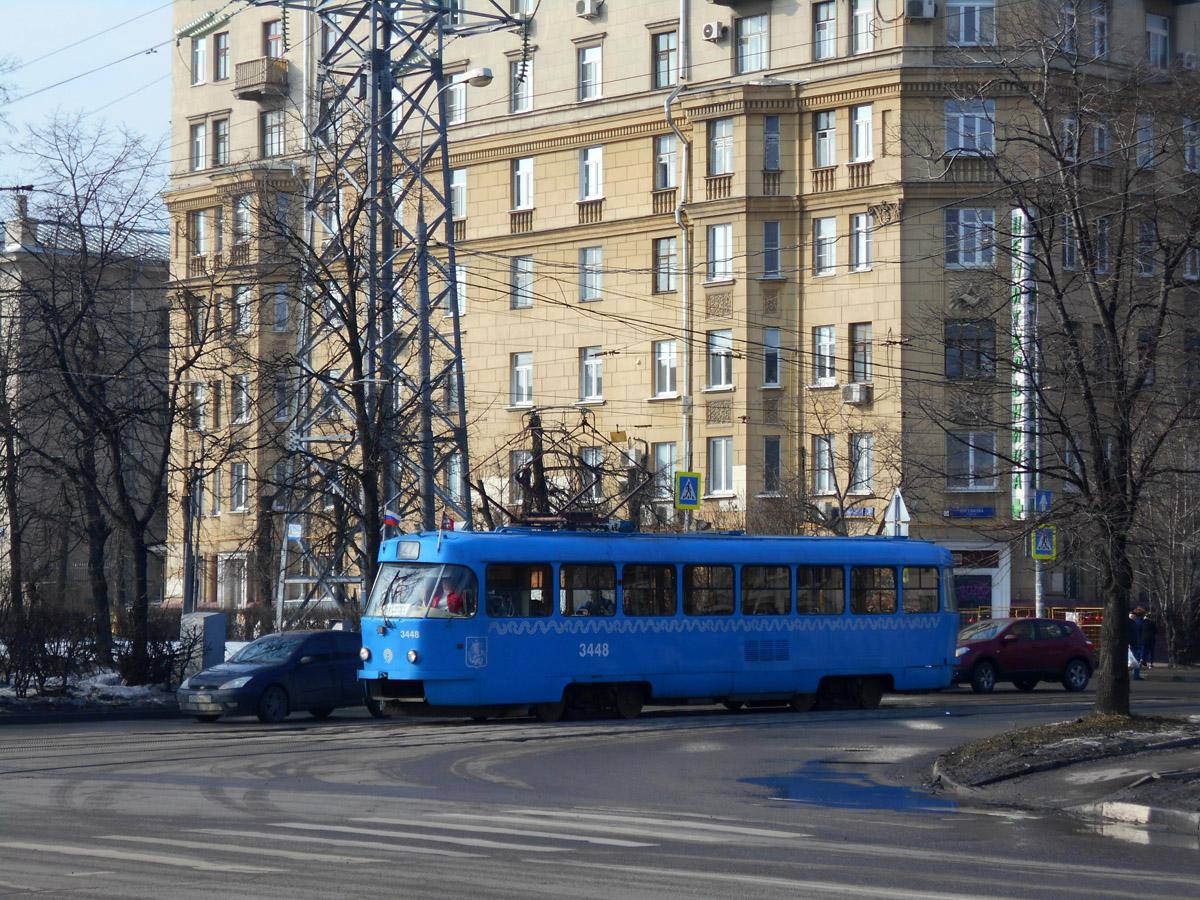 Москва. Tatra T3 (МТТЧ) №3448