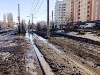 Саратов. Трамвайные пути четвёртого и шестого маршрутов