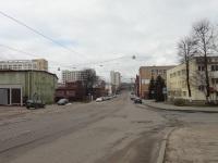 Минск. Трамвайная линия по Октябрьской улице, вид со стороны РК Октябрьская