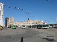 Минск. Общий вид на троллейбусную часть диспетчерской станции Ангарская-4