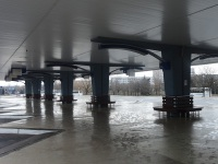 Минск. Автовокзал Восточный, левый перрон, вид от центрального здания