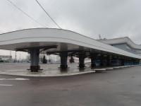 Минск. Автовокзал Восточный, правый перрон, вид от площадки отстоя