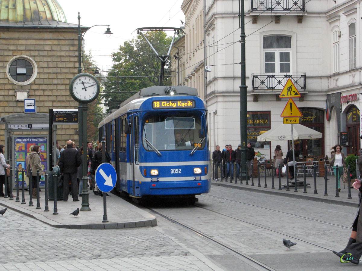 Краков. Duewag GT8S №3052