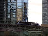 Лас-Вегас. Транспортная система Aria Express (CityCenter Tram), соединяющая отели-казино Белладжио (Bellagio) и Монте Карло (Monte Carlo)