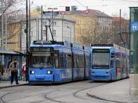 Мюнхен. Adtranz R2.2 №2145, Adtranz R3.3 №2202