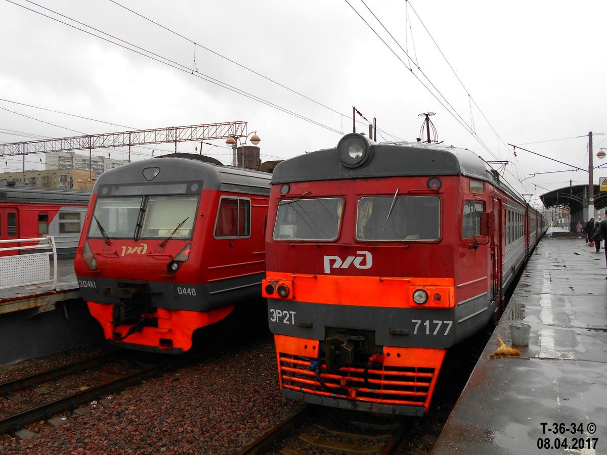 Москва. ЭР2Т-7177, ЭД4М-0448