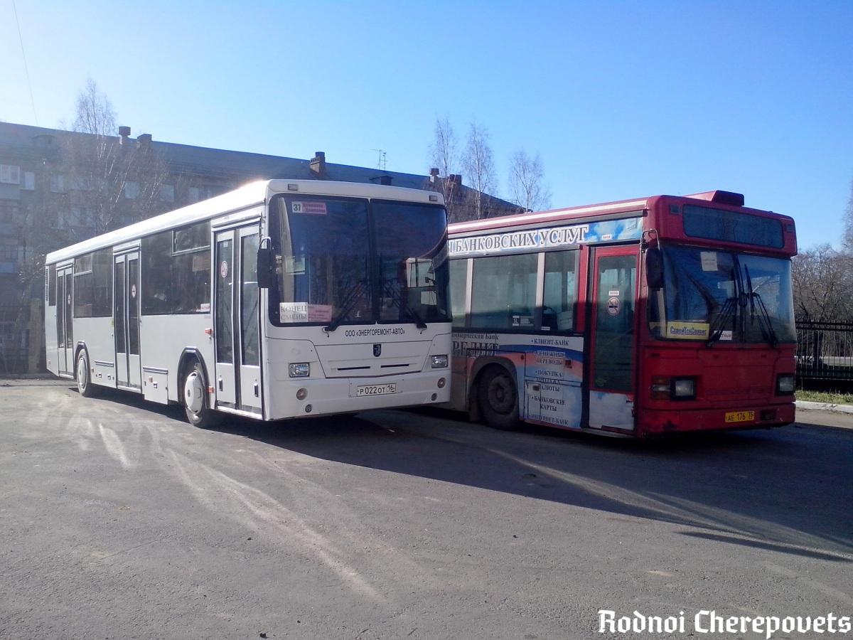 Череповец. Scania MaxCi CN113CLL ае176, НефАЗ-5299-10-15 (5299BG) р022от