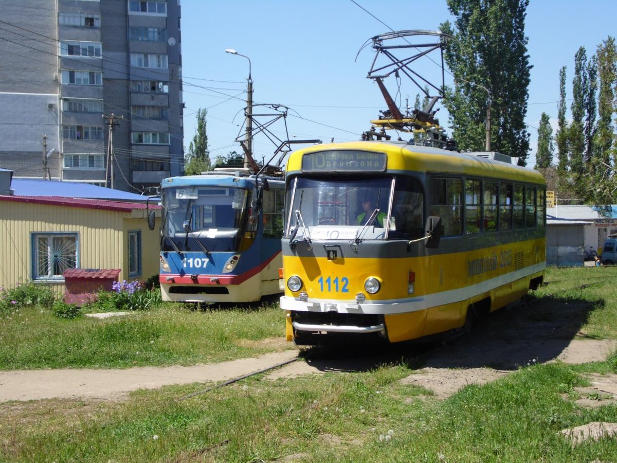 Николаев. К1 №1107, Tatra T3M.05 №1112