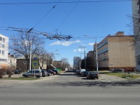 Минск. Служебная линия в окрестностях 4 троллейбусного парка, вид в сторону 1-ого Загородного переулка