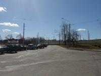Минск. Служебная линия в окрестностях 4 троллейбусного парка, вид в сторону улицы Харьковской