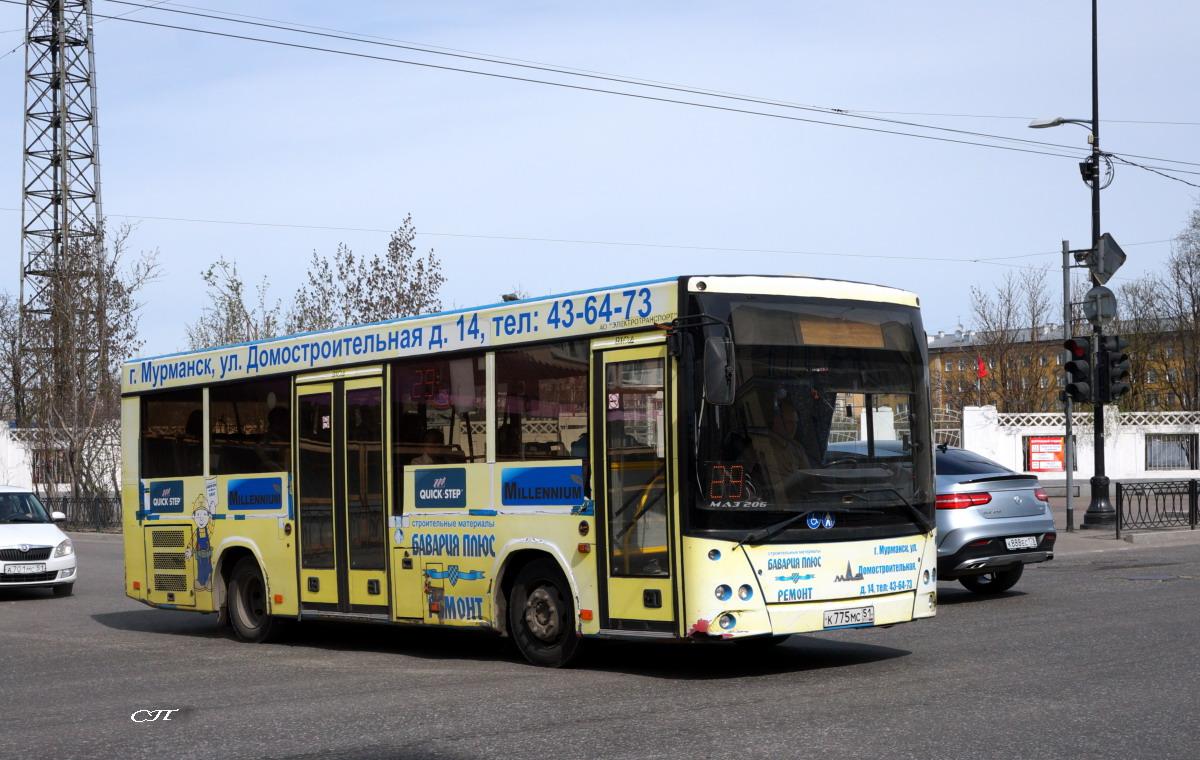 Мурманск. МАЗ-206.060 к775мс