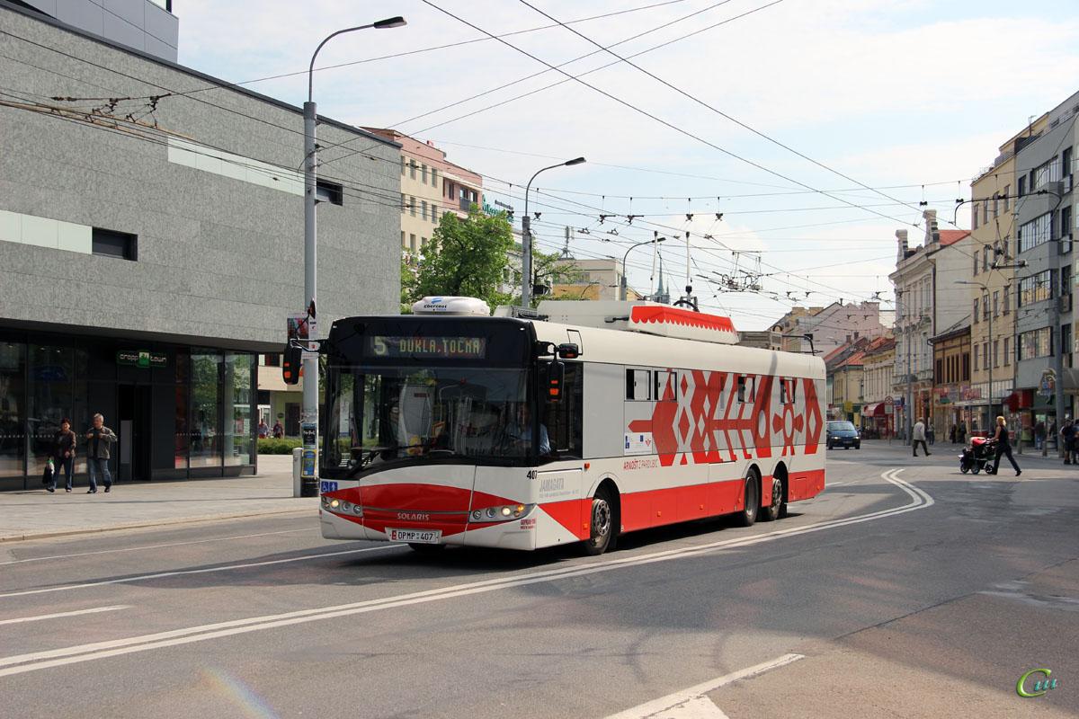 Пардубице. Škoda 28Tr Solaris №407