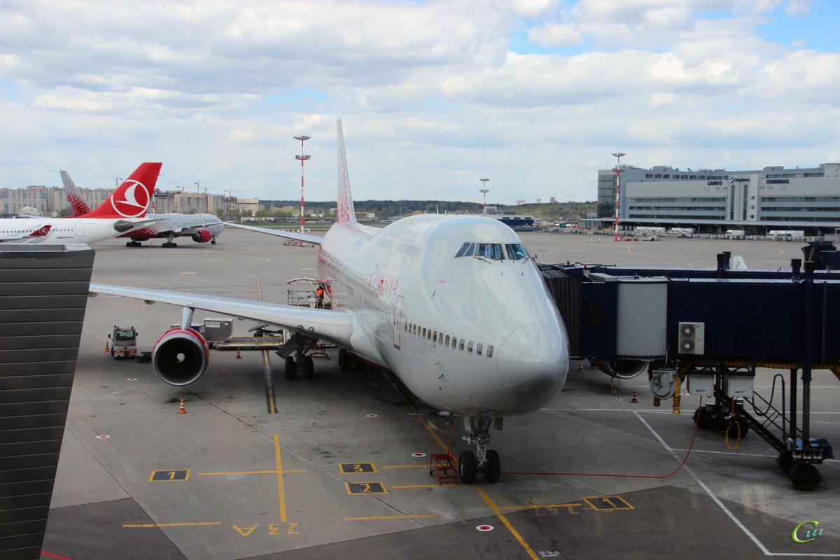 Москва. Самолет Boeing 747-400 Казань (EI-XLH) авиакомпании Россия