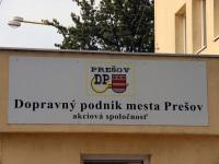 Прешов. Табличка на въезде в автобусное депо (Dopravný podnik mesta Prešov (DPMP))